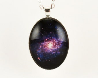 Outer Space Galaxy Pendant, Nebula Necklace, Cosmic Jewelry