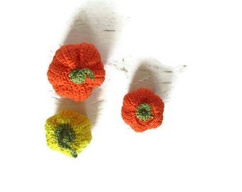 Halloween pumpkins- 3 Crochet home decors