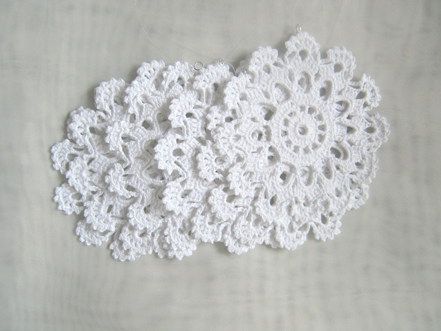 Christmas Decor - Crochet snowflakes -Set of 6 Lacy Snowflakes /Set of 6 Crochet coasters/Tea / Coffee coasters, Kitchen table decor