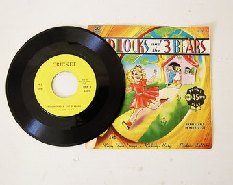Vintage kids record Goldilocks and The Three Bears, Vintage vinyl record, Kids collectibles, Nursey decor