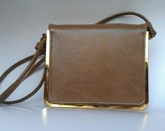 1950's Vintage Tan Handbag