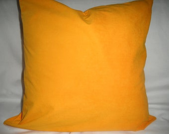 Sunflower Ultra Suede 18 x 18 Handmade Decorative Pillow Cover