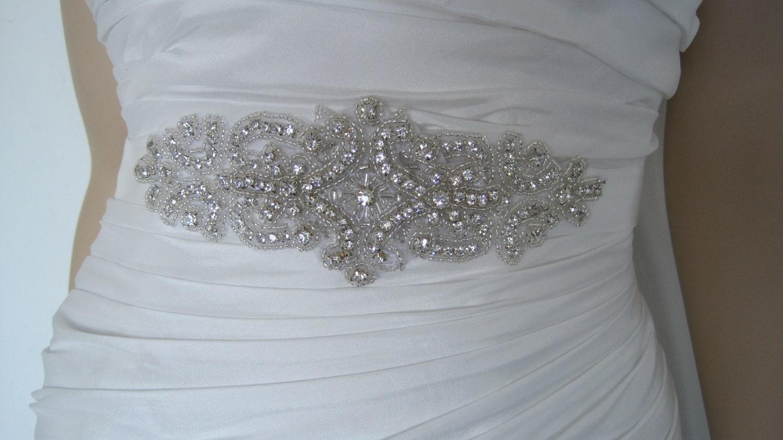 Crystal bridal sash belt beaded wedding dress sash belt