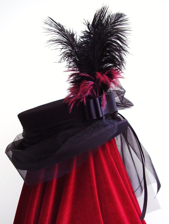 Victorian Dressage riding hat   The lady Banbury   bustle top hat by  Blackpin 93589b20cfd