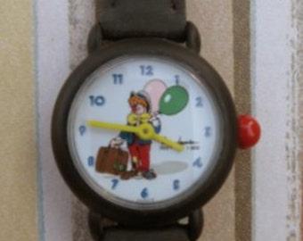 """Pierre Lannier """"Clown"""" watch - black band"""