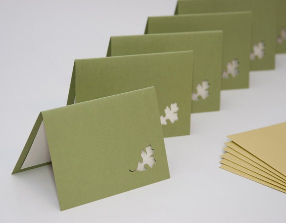 Leaf Note Card Small Set of 6