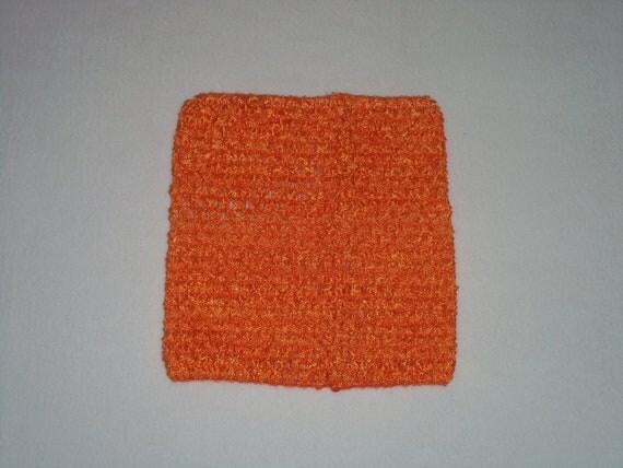 Orange 6 inch Crochet Tutu Dress Top