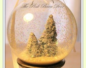 Two Snow Globe Christmas Ornaments