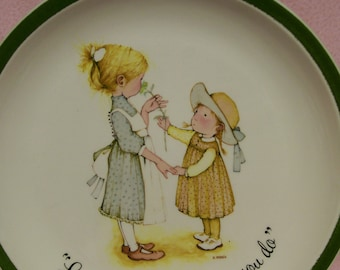 HOLLY HOBBIE  PLATE Love is the Little Things You Do Vintage 1970s