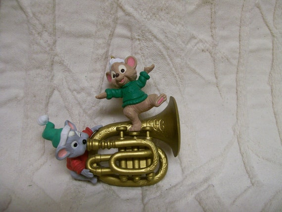 Hallmark French Horn Christmas Ornament Vintage