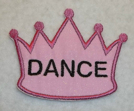 Princess Crown Dance iron on Applique Patch 973