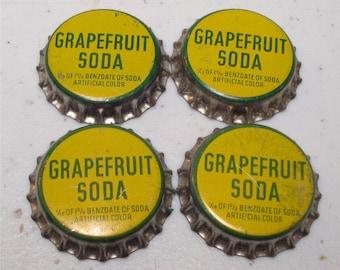 Vintage Soda Bottle Cap GRAPEFRUIT Cork Back
