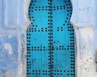 Door in Chefchaouen, Morocco - fine art print