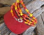 Hippie Bracelet & Leather Cuff Duo