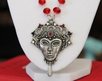 Dark Masquerade Book Geek Girl Necklace