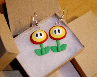 Super Mario Fire Flower Earrings