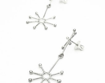 ATOMIC retro star sterling silver earrings