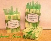 Handmade Soap Sweet Grass Earthy and Herbal Beautiful Scent