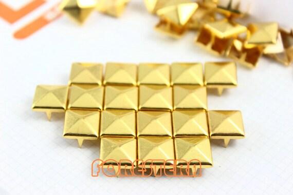 300Pcs 10mm Gold Pyramid Studs Metal Studs (JP10)
