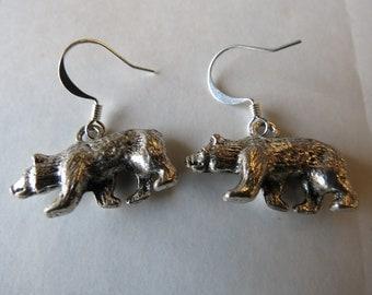 Bear Charm Earrings.