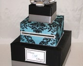 Elegant Custom made Wedding Card Box-Damask design