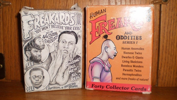 Rare Conplete Vintage FREAKARDS 2 and HUMAN Freaks and ODDITIES Trading Collectors Cards