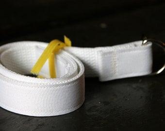 Kids White Belt Made to Match School Uniform Adjustable Custom Size