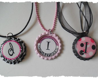 Your Choice Of Initial I Bottlecap Necklace Pick your Style