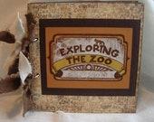 Exploring The Zoo scrapbook album