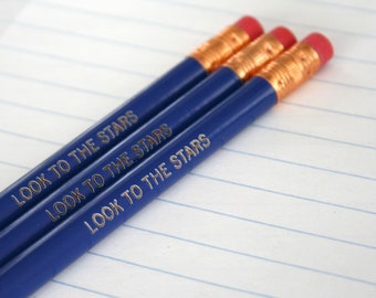 look to the stars midnight blue pencil set three 3.