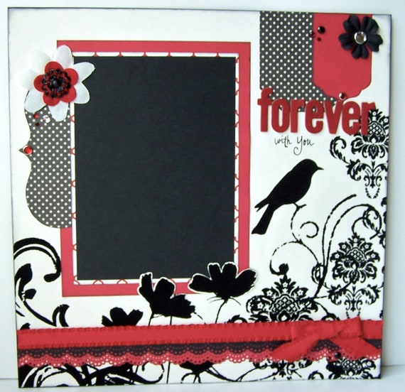 Forever With You Premade 1 Page 12x12 Scrapbook Layout