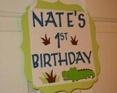 Alligator Door Sign, Alligator Theme, Welcome Sign, Birthday sign, Alligator Baby Shower