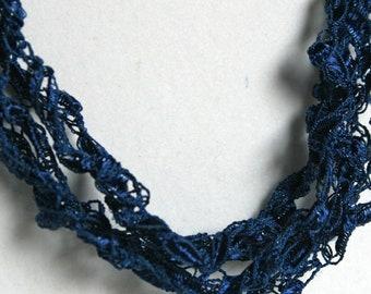 Night Sky   - Crocheted Necklace