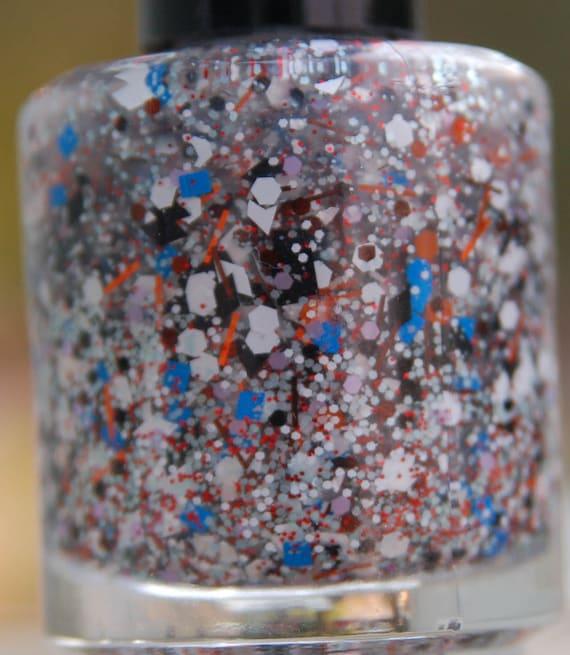Snowman's Nightmare: Nail Polish Custom blended Glitter Lacquer