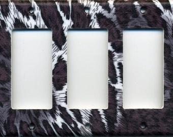 Animal Print Triple Decora Light Switch Plate