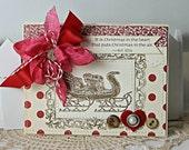 Shabby Chic Christmas Sleigh handmade card