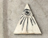 Wooden Triangle Eye Painting