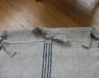 Custom Grain Sack Dog Bed Slipcover