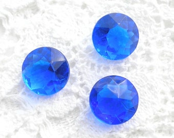Glass Jewels - 12 Pc. Set of 48ss Sapphire Blue