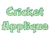 Cricket Applique Machine Embroidery Font Monogram Alphabet - 3 Sizes