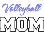 Volleyball Mom Applique Machine Embroidery Design - 3 Sizes