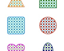 Applique Shapes Pack Machine Embroidery Designs - 4 Sizes Each