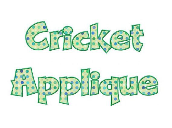 Cricket Applique Machine Embroidery Font Monogram Alphabet - 3 Sizes