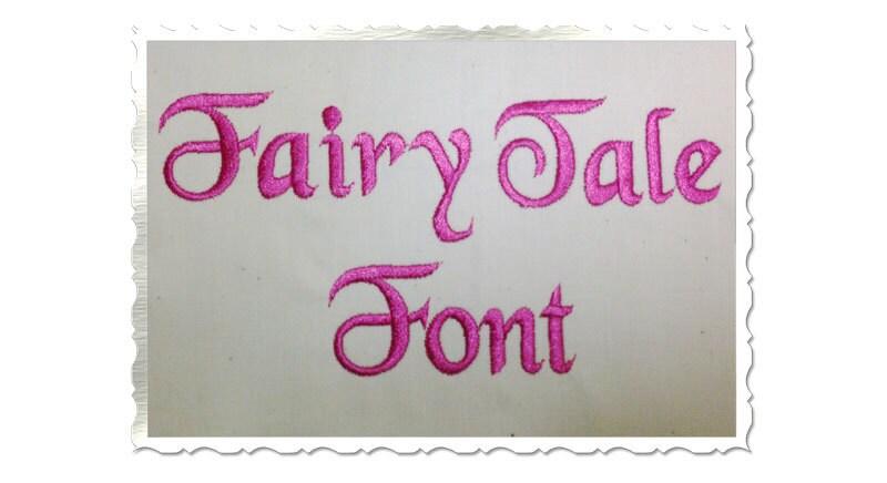 fairy tale machine embroidery font monogram alphabet 3 sizes