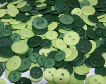 "300 Green Buttons  two hole 7/16 to 5/8"", Lot 1593"