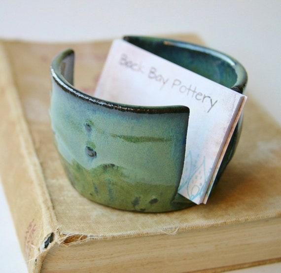 Ceramic Sponge Holder - Mediterranean Kitchen - Ocean Green Blue - Ready to Ship