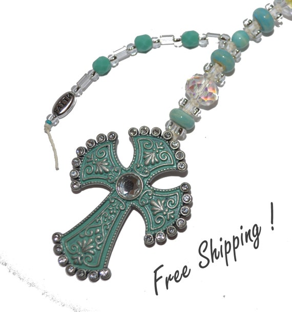 SALE!  Sea Green Pewter with Rhinestones Purse Jewelry.  Exquisite FREE Shipping
