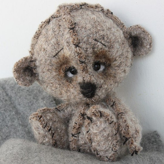 Teddy bear Bano. OOAK. (Reserved)