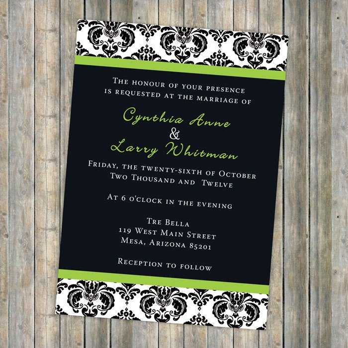 damask accents in green - photo #25