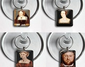 The Tudors Henry the 8th Wives History England Beheading House Gift Drink Wine Charms Glass Set of 8 Wedding Trendy Bridal Shower